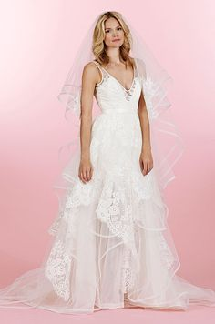 Would you wear this Hayley Paige wedding dress? It can be wear in so many different ways. Check out other looks of this dress.