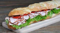 Puten-Pastrami-Sandwich – Baguette mit geräucherter Putenbrust