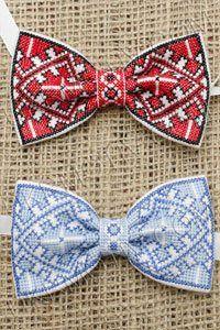 Схема вышивки бабочки галстук