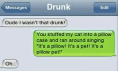 15 Funniest Drunk Texts Ever Sent - Autocorrect Fails and Funny Text Messages - SmartphOWNED Funny Drunk Text Messages, Funny Drunk Texts, Text Message Fails, Funny Texts Jokes, Text Jokes, Funny Text Fails, Drunk Humor, Cute Texts, Memes Humor