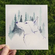 Dessin loup au bic un jour d'hiver  ❄️☀️ Moose Art, Animals, D Day, Winter, Animaux, Animales, Animal, Dieren