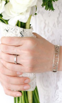 10 mm Open Air in silver, 14kt white gold Meridian wedding ring.