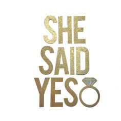 She Said Yes Bridal Shower Banner Sign // Bridal Shower Decorations // Engagement Party Decorations