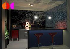 Projeto de Interiores para copa de estúdio de gravação (Villa Music Studio), em Porto Ferreira