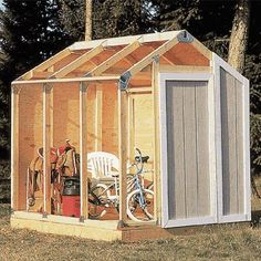Northern Tool kit for homemade shed roofing and flooring not included) Diy Shed Kits, Storage Shed Kits, Cheap Storage Sheds, Cheap Sheds, Insulating A Shed, 8x8 Shed, Shed Frame, Shed Construction, Build Your Own Shed