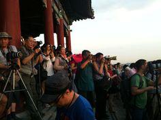 A por la foto perfecta des de la colina del carbón. Pekín.