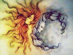 Afbeeldingsresultaat voor sun and moon tattoo