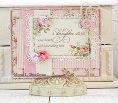 Daughter card in pink * Mona Pendleton
