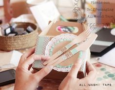 Washi Tape party packaging