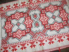 Hardanger embroidery in color #norway