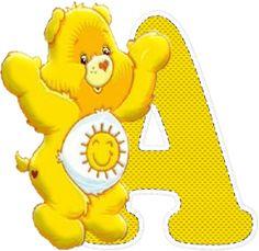 Alfabeto Decorativo: Alfabeto - Ursinho Carinhoso 13 - PNG - Letras - M...