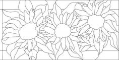 Sunflower Stained Glass Pattern                                                                                                                                                                                 More