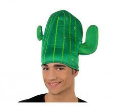 Sombrero o Gorro verde en forma de Cactus