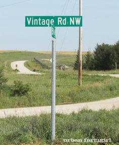 I need to live on this road! I found this intersection when I was 'picking' in rural Minnesota. It is just so 'me'. ;o)