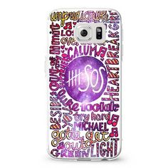 5 second of summer 5 SOS collage galaxy nebula samsung galaxy S3,S4,S5,S6 cases