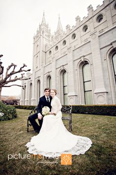 Gorgeous Wedding Dress, awesome angle of the temple too