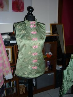 Chinese style waistcoat made by Terri as a gift for our neighbour.