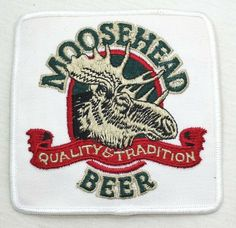 Moosehead Beer Square Embroidered Patch 4 Inches X 4 Inches #Moosehead Moosehead Beer, Moose Head, Embroidered Patch, Coasters, Patches, Traditional, Store, Ebay, Drink Coasters