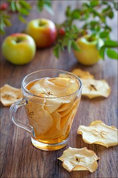 tea with apple chips!