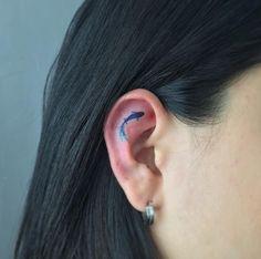 Ear tat by Muha #AwesomeTattooDesignsAndIdeas