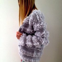 Gabby in our Los Angeles store wears Dazed knitted fur jacket in marble. #inconcert #robertson #zimmermann