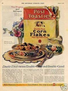 Post Toasties Corn Flakes Cereal (1926)