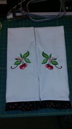 Cherry Towels for Amy's Birthday