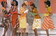"""""""The Carol Burnett Show"""" had some A-List guests over the years. In viewers got a treat when The Pointer Sisters appeared on """"The Carol Burnett Show. Steve Berry, Alan Scott, Carol Burnett, Bob Mackie, On October 3rd, Online Images, Costume Design, Pointers, My Girl"""
