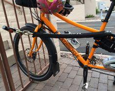 Cargo bike lock-up solution.
