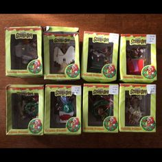 NIB 8 Scooby-Doo Christmas Ornaments! Scooby Doo These ornaments are brand new in their original box.  Some of the boxes are a little bent, but nothing major.  Very collectible items.  Let me know if you have any questions. Other