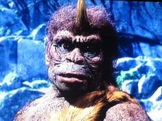 """Trogladyte """"Trog"""" · A good guy whose emotions you can see as Ray Harryhausen wanted to facial emotions in the creature Classic Horror Movies, Horror Films, Horror Art, Fantasy Movies, Fantasy Characters, Mighty Joe Young 1949, First Color Film, King Kong 1933, Sinbad The Sailor"""