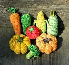 Crochet tricot jouets de bébé légumes 8 Pcs jeu alimentaire Waldorf jouet éco-friendly bébé cadeau coton bio jouet enfants cadeau enfant cadeau décor de cuisine