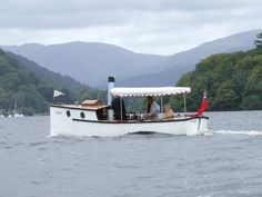 A Steam Launch on Lake Windermere