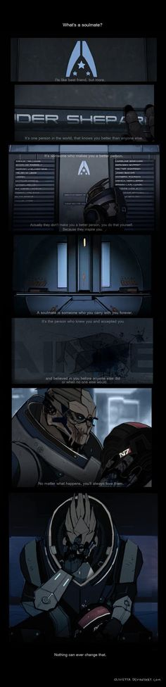 Mass effect ♥ - this is why I love you Garrus.