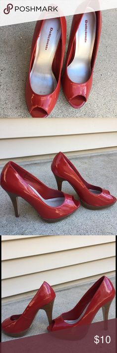 Selling this Delicious brand red heels on Poshmark! My username is: alexisa19. #shopmycloset #poshmark #fashion #shopping #style #forsale #Shoes