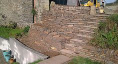 Cornish Stone Walling, Green Stone Landscaping, Wadebridge Cornwall