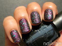 <3 #nail #polish #manicure #art #matte #glitter