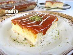 Orjinal Trileçe Tres Leches Recipe, Tres Leches Cake, Trilece Recipe, Cake Recipes, Dessert Recipes, English Food, Turkish Recipes, Beautiful Cakes, Waffle