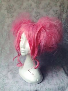 The new Charli Cotton Candy/ Candy Floss Lolita Wigs are made using 100% high quality, maximum thickness synthetic hair.  You can choose from a variety of different shades of pink and white to suit you best, see drop down menu for options or contact directly for more.  Each wig is bespoke and custom made specifically for you. Our wigs are made to order so you can add different accessories and modify this design to make it a truly unique piece, contact directly for this option.  Perfect for…