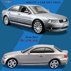 "10% Off on Maisto Metal Kruzerz 2Pk 3"" Vehicle Assorted 18 (Audi A8, Bmw 135I Coupe) Shop Now ‪#‎Toyscars‬ ‪#‎Toystore‬ ‪#‎Redbell‬ ‪#‎Games‬"