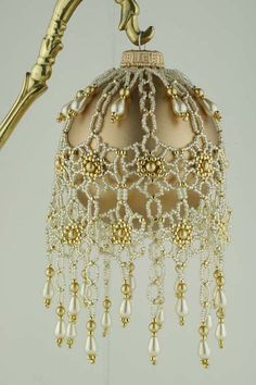 Beading Tutorial  Floral Elegance Ornament by KellyWiese on Etsy, $10.00
