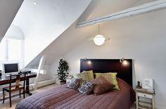 Scandinavian Design: Bright Two Story Attic in Stockholm | HomeDSGN