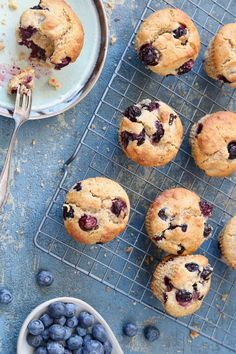 More healthy Blueberry Muffins Healthy Blueberry Muffins, Healthy Breakfast Smoothies, Baking Recipes, Snack Recipes, Nutritious Snacks, Weird Food, Healthy Baking, Clean Eating Snacks, Cooking Time