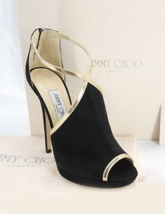 Jimmy Choo Ankle Fey Open Toe Ankle Sandals high heel booties