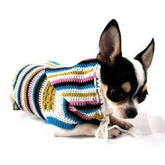 Bohemian Dog Hoodie Pajamas Teacup Chihuahua Clothes Puppy Cat Colorful Button Pet Clothing Handmade Crochet DK896 Myknitt – Free Shipping by myknitt http://petuoso.com/s/bohemian-dog-hoodie-pajamas-teacup-chihuahua-clothes-puppy-cat-colorful-button-pet-clothing-handmade-crochet-dk896-myknitt-free-shipping-by-myknitt/