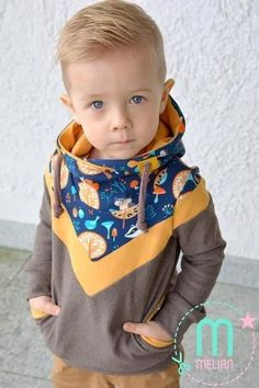 Melian Kinder Hoodie Gr 74 – 158 Mini Melian, a really cool hoodie for little and big kids. Mini Melian is a casual, cool and [. Baby Boy Outfits, Kids Outfits, Cute Outfits, Sewing For Kids, Jacket Style, Pulls, Big Kids, Diy Clothes, Diy Fashion