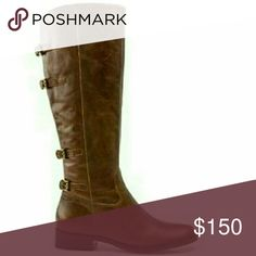 👢 Distressed Becky Riding Boots Beautiful Leather w/4 Buckles Very Narrow Foot/Small/Tight  Calf is Snug Free People Shoes Heeled Boots