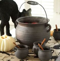 Still don't know where to buy an iron cauldron... those plastic ones at Party City will NOT do.