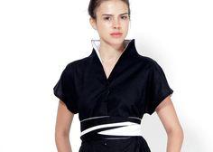 Robe robe noire kimono japonais