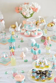 Soft Pastel Easter Decor. Decoracion para Pascua en tonos pastel.